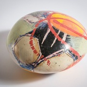 Red_abstraction_sculptural_pebble